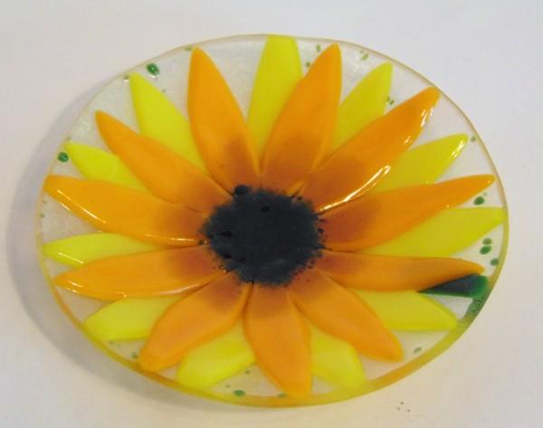 Sunflower Dish by Kathy Kollenburn