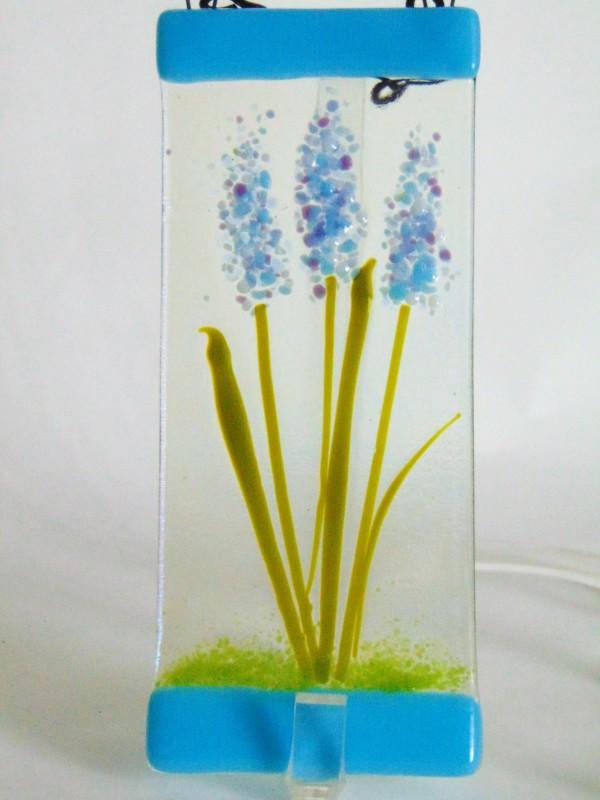 Small Garden Hanger-Blue Spires by Kathy Kollenburn