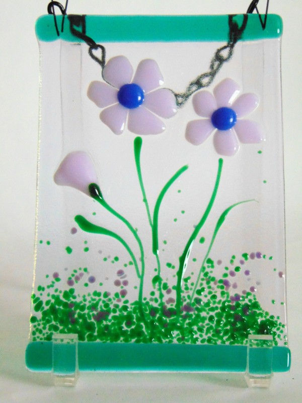 Garden Hanger-Lavender Daisies by Kathy Kollenburn