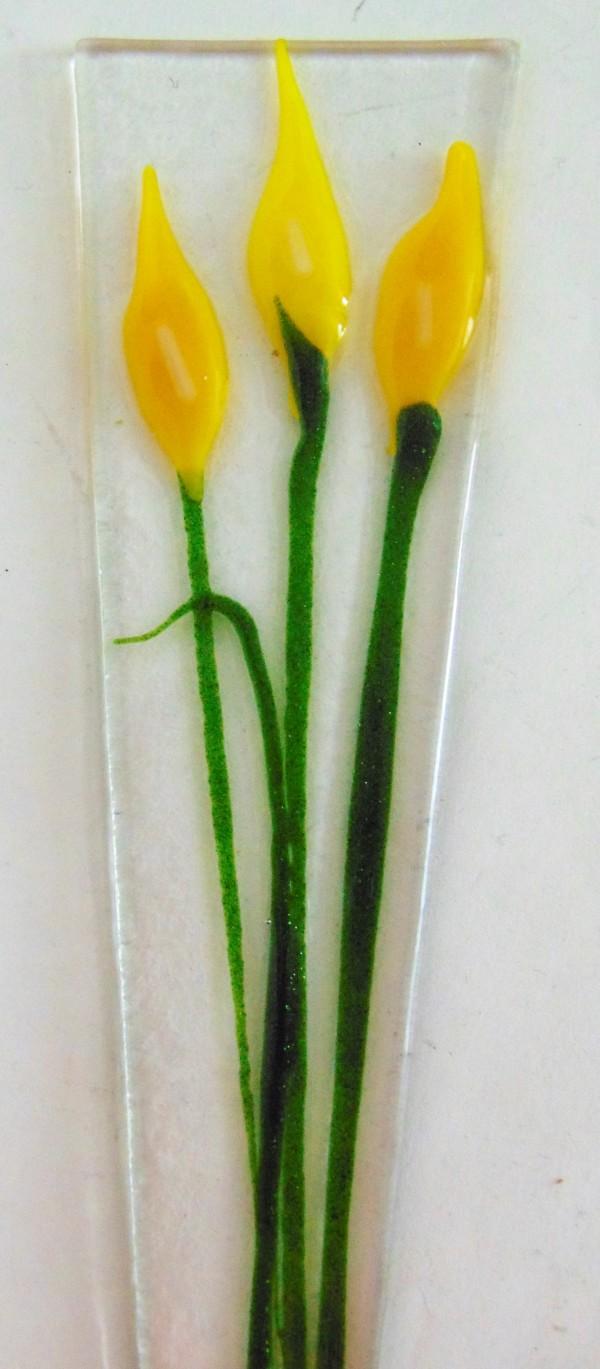 Plant Stake-Yellow Callas by Kathy Kollenburn