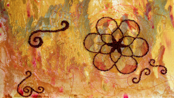 Geomantic Garnet Gestalt by Laura McClanahan