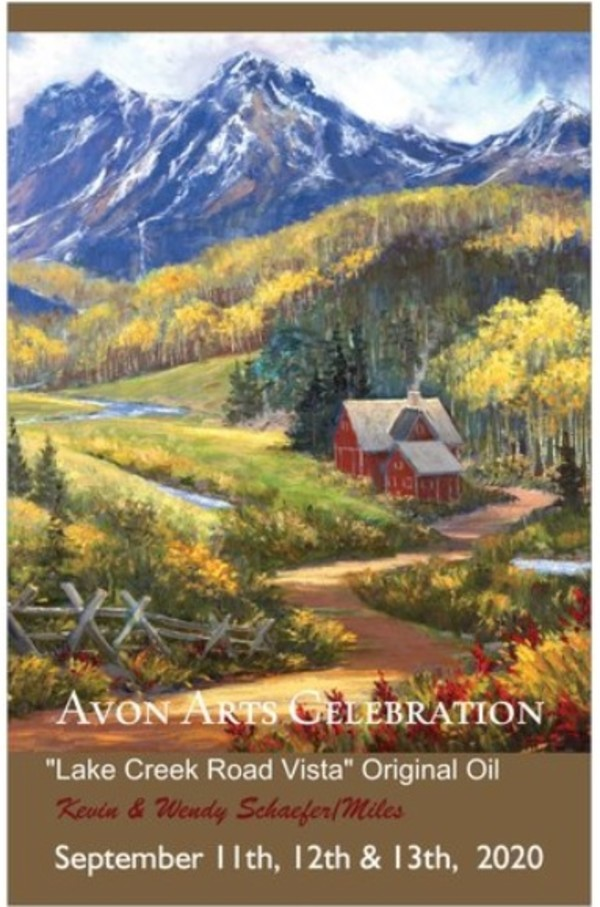 Avon Arts Celebration Poster 2020 by Kevin D. Miles & Wendy Sue Schaefer Miles