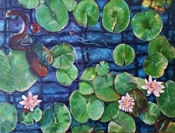 Water lillies by Kevin D. Miles & Wendy Sue Schaefer Miles