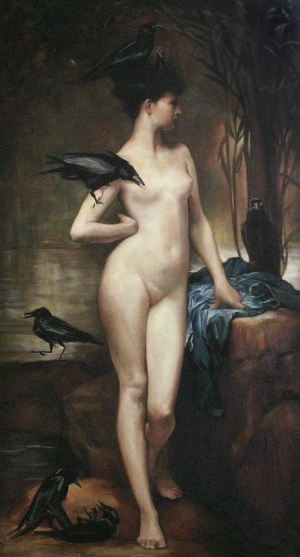 Chloe and the crows by Yvonne East