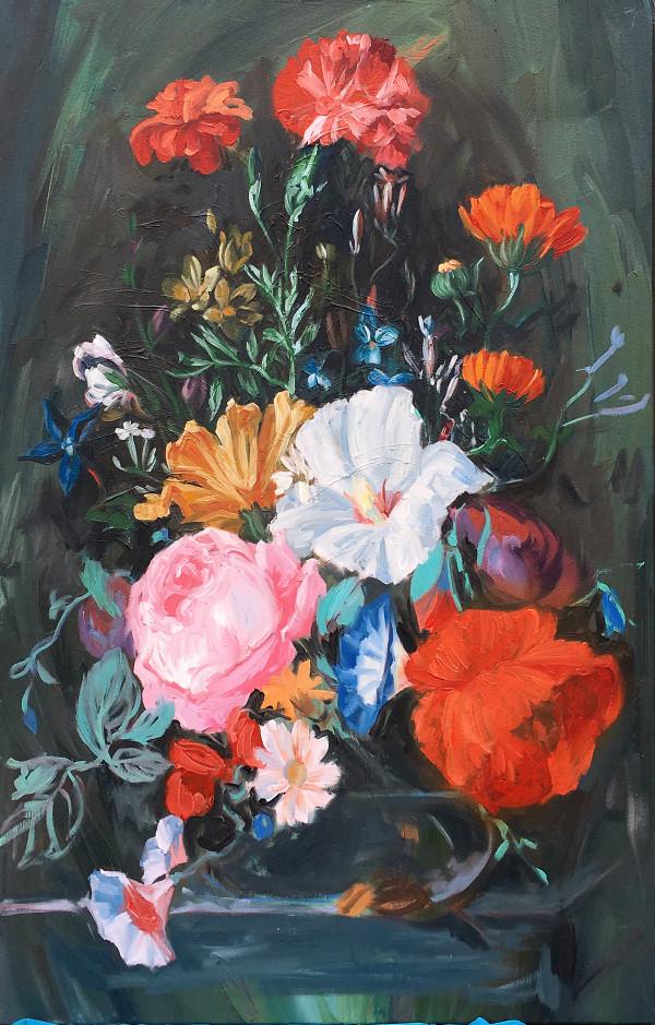 Dutch flower study by Yvonne East