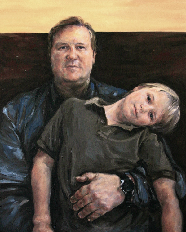 Father and Son, after Janus (portrait of Tim and James Olsen) by Yvonne East