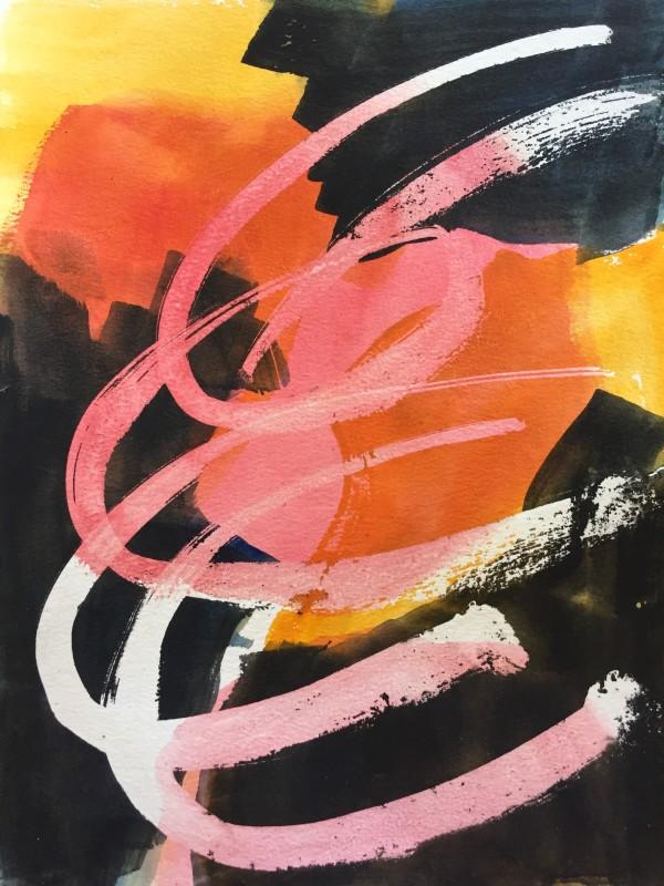Crazy Watercolors #1 by ellen koment