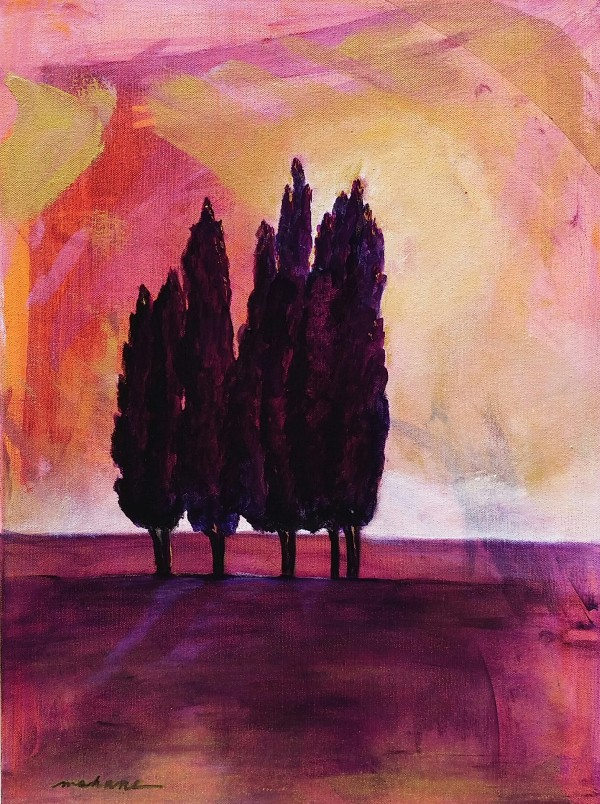 Tuscan Trees by M Shane