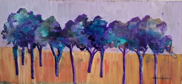 Purple Trees by M Shane