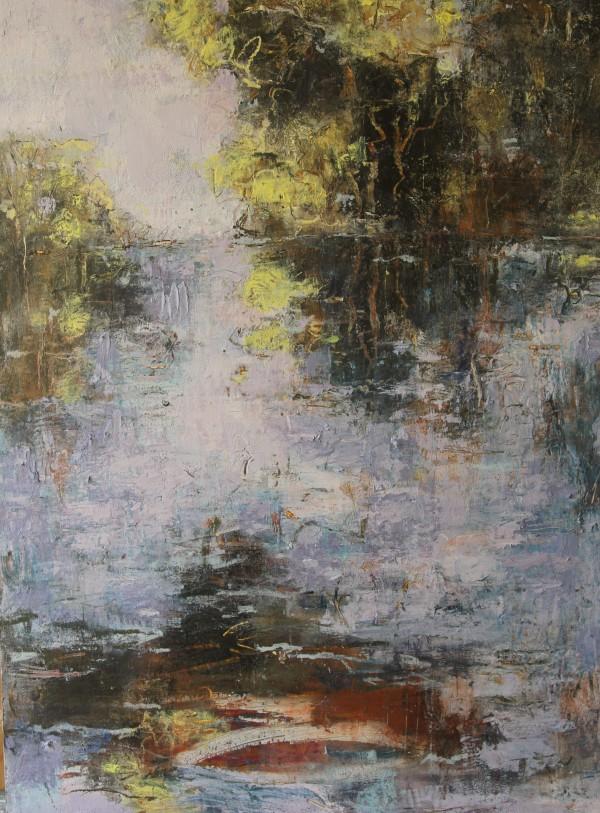 Wattle on the Water by Lyn Laver-Ahmat