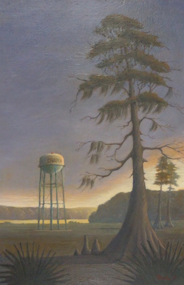 Chauvin Water Tower by Leslie  Martin