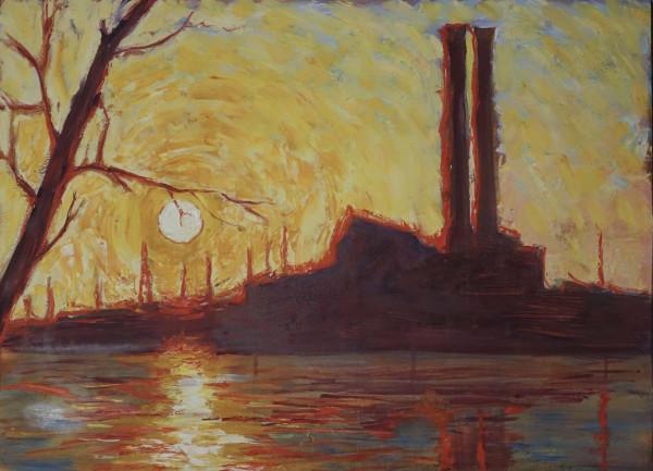 Factory Studies 5 by Leslie  Martin