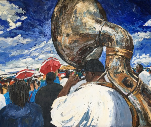 Sousaphone at JazzFest  by Isabelle Jacopin