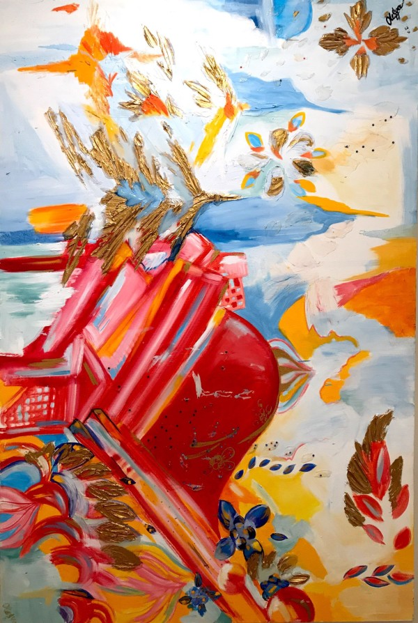 Abstract Red by Oleysa Ianovitch