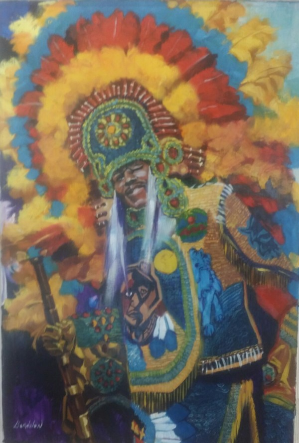 Mardi Grad Indian  by Anthony  Bordelon