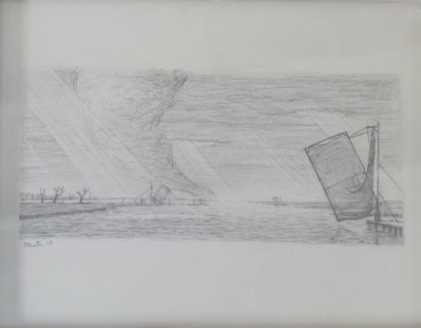 Paupíères In Oil Study by Leslie  Martin
