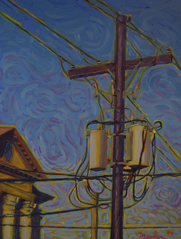 Powerlines #5 by Leslie  Martin