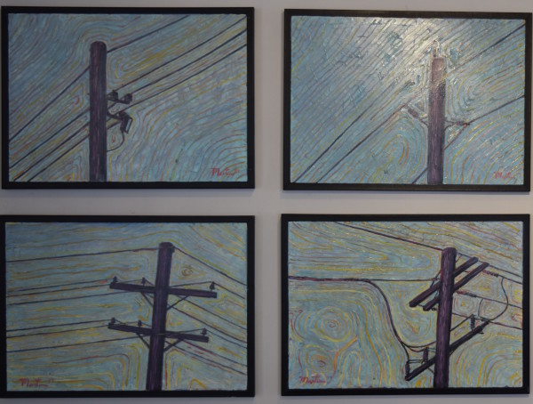 Powerlines Group by Leslie  Martin
