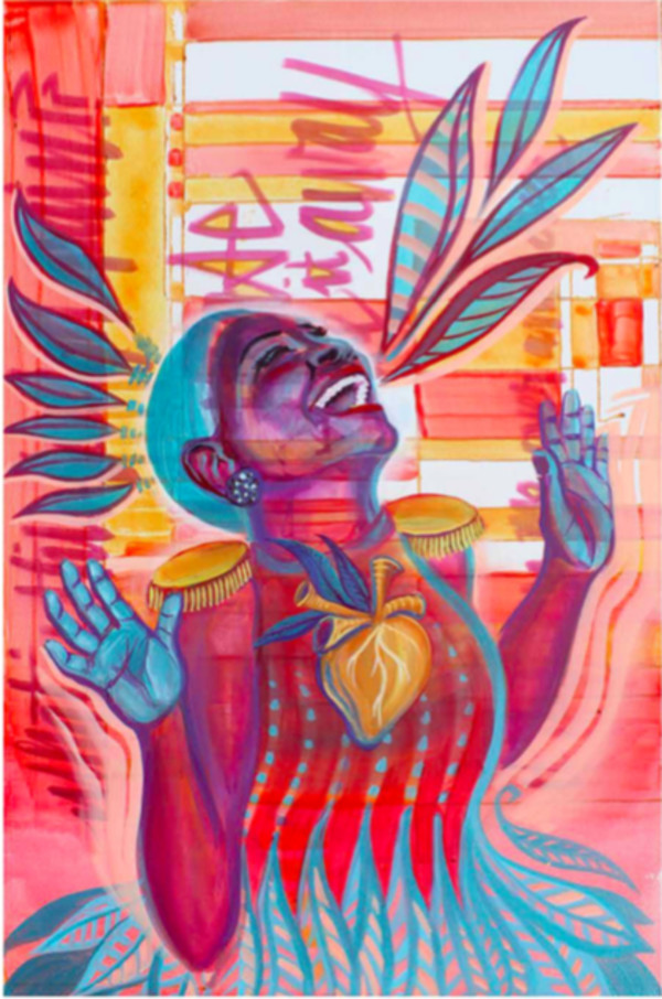 Goldenheart Jones Print by Monica Kelly