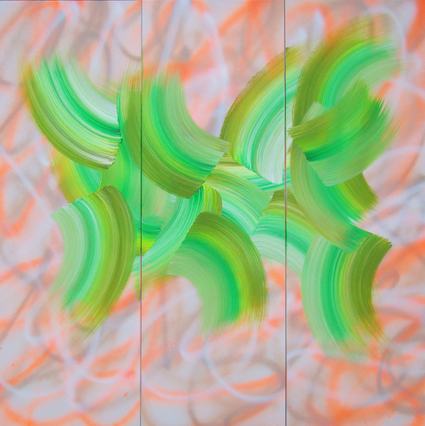 Untitled 24 (Triptych) by Katie  Dumestre Yaquinto