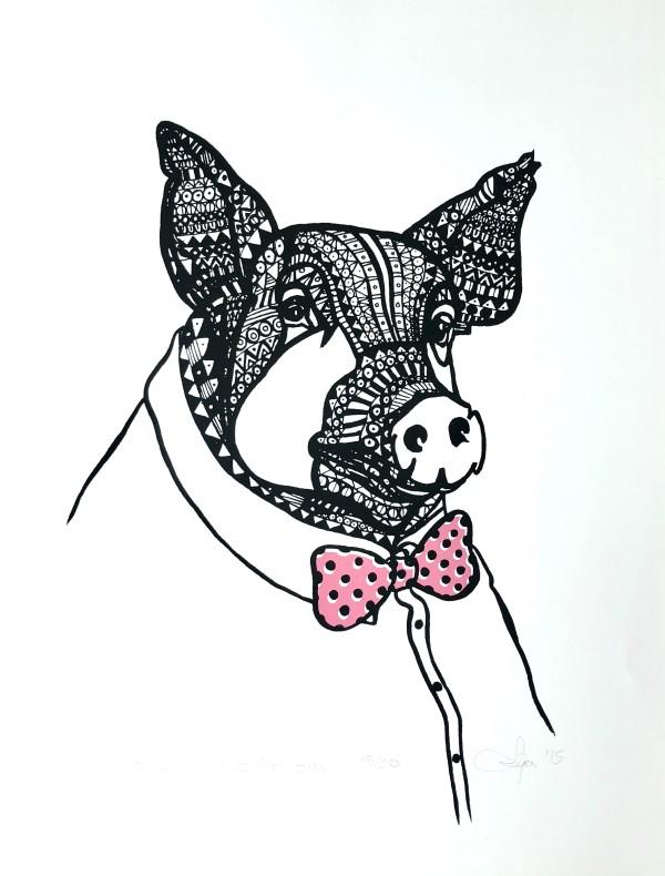 Mr. Gaston (pink) by Anja Studer