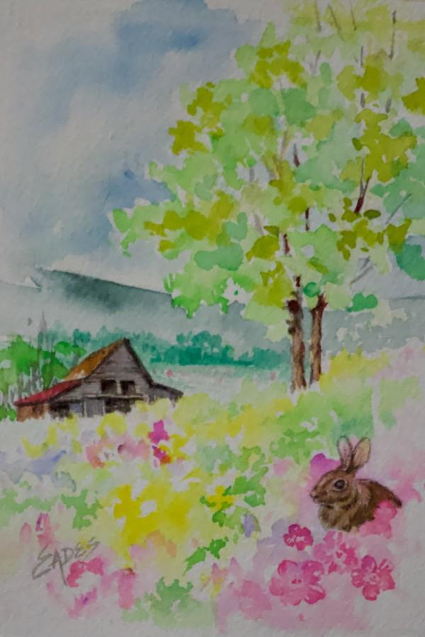 Barnyard Bunny by Linda Eades Blackburn