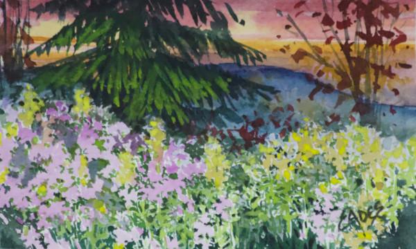 Fall Trees and Wildflowers by Linda Eades Blackburn