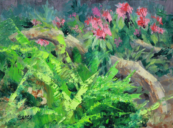 Flamingo Plants by Linda Eades Blackburn