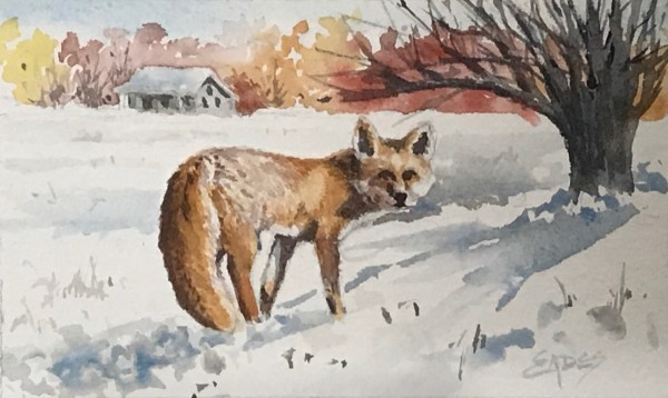 Fox in the Snow by Linda Eades Blackburn