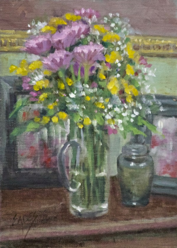 Hall Table Floral by Linda Eades Blackburn