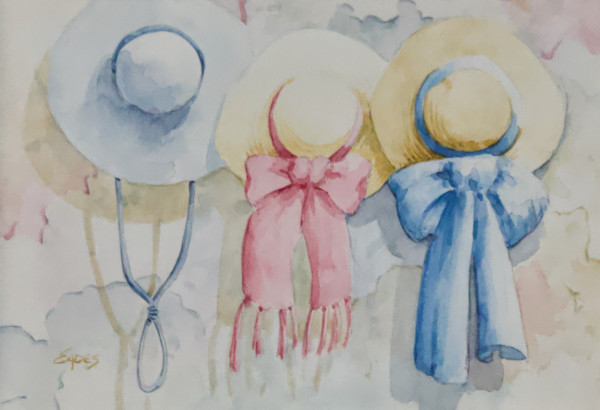 Hanging Hats by Linda Eades Blackburn