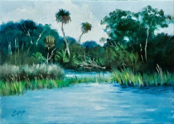 High Tide on the River by Linda Eades Blackburn