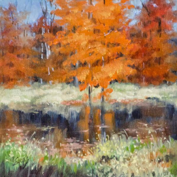 Leaves on the Water by Linda Eades Blackburn