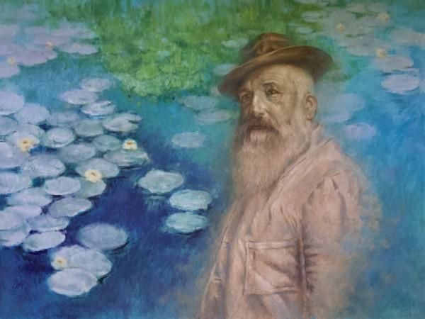 Monet a Tribute.  His Spirit walks Giverny by Linda Eades Blackburn