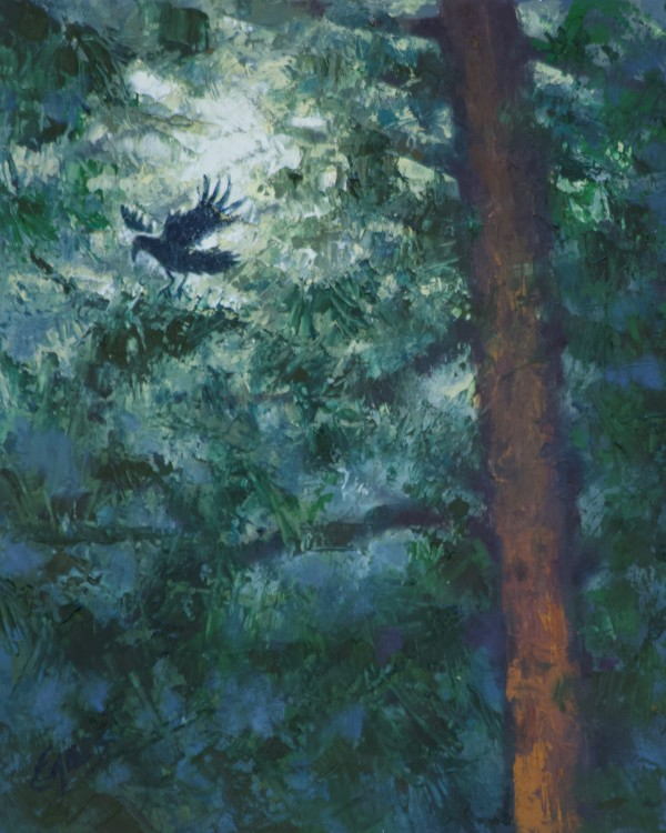 Moonlight Thru the Pines 3 by Linda Eades Blackburn