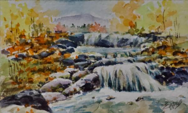 Mountain River WC by Linda Eades Blackburn