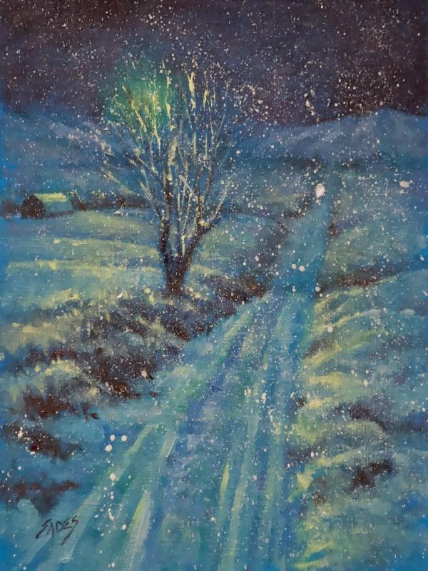 Oh that Moonlight on the Snow by Linda Eades Blackburn