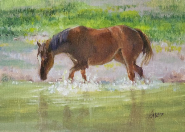 Pond Play by Linda Eades Blackburn