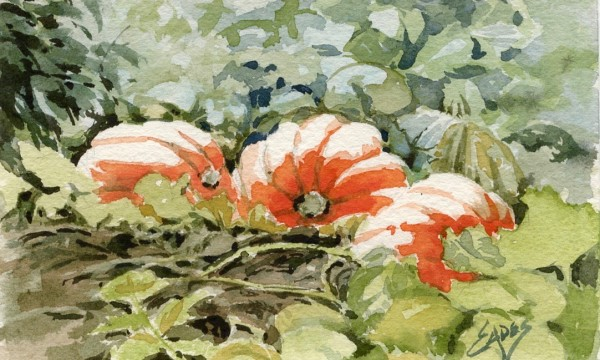 Pumpkins in the Patch WC by Linda Eades Blackburn