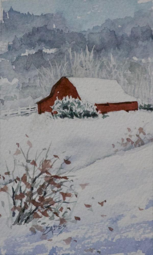 Red Barn by Linda Eades Blackburn