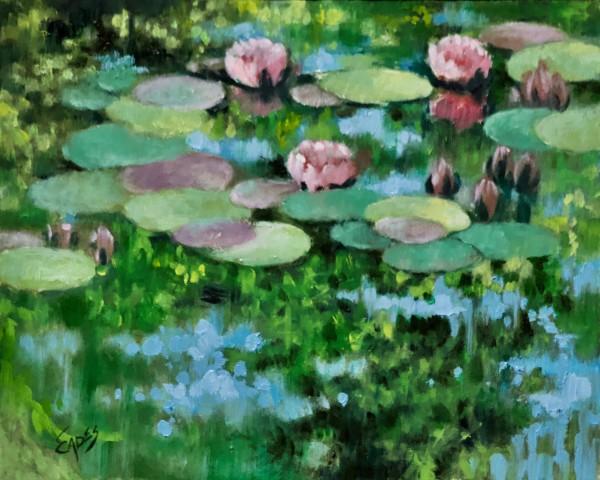 Reflections and Waterlilies by Linda Eades Blackburn