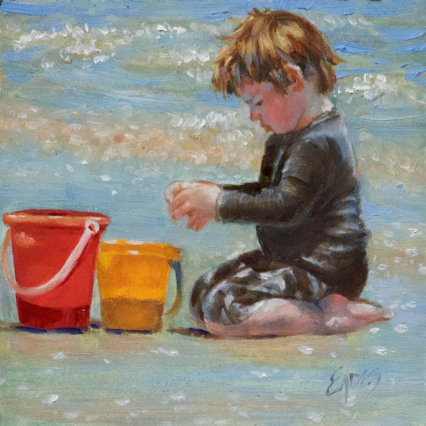 Sand Buckets by Linda Eades Blackburn