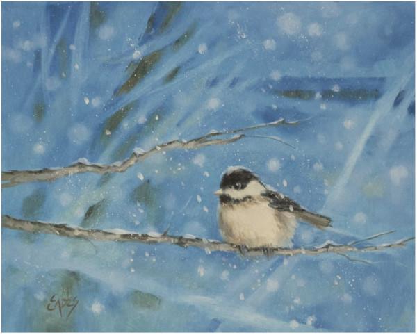 Chilly Chickadee by Linda Eades Blackburn