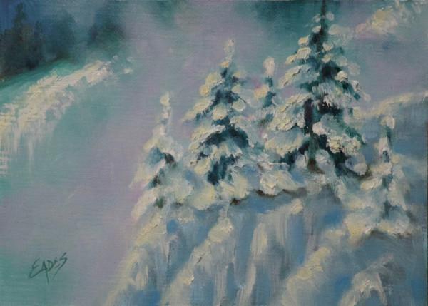 Snow Blowing in the Valley by Linda Eades Blackburn