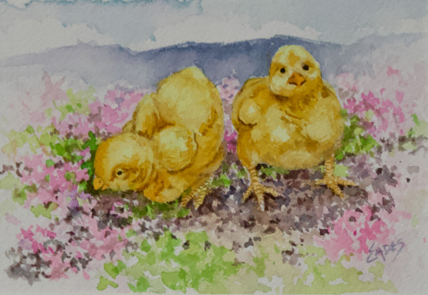 Spring Chicks by Linda Eades Blackburn