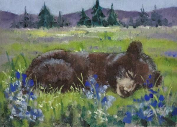 Spring Nap in the Meadow II by Linda Eades Blackburn