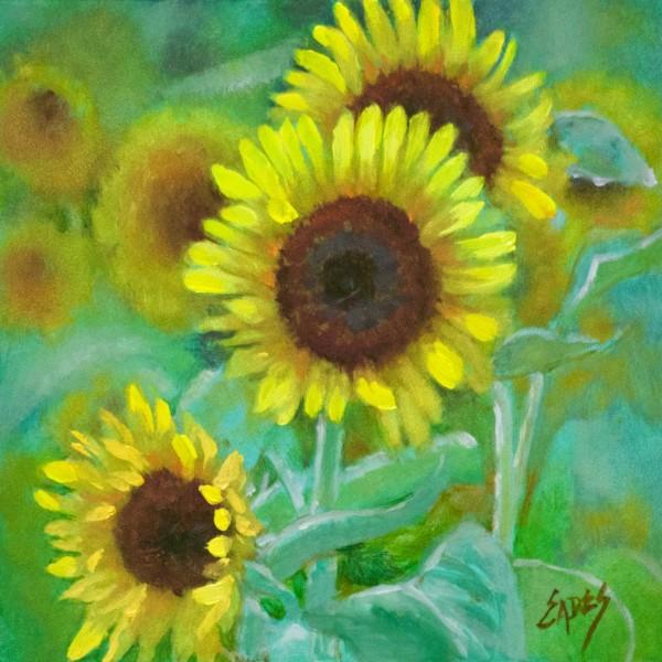 Sunflower Gatherting by Linda Eades Blackburn