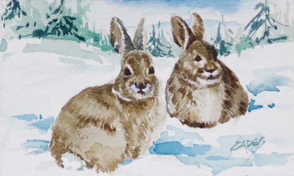 Two Brown Bunnies by Linda Eades Blackburn