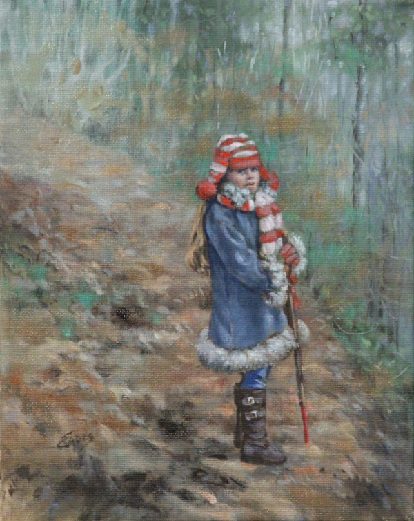 Waiting for Nina on the Mountain Trail by Linda Eades Blackburn