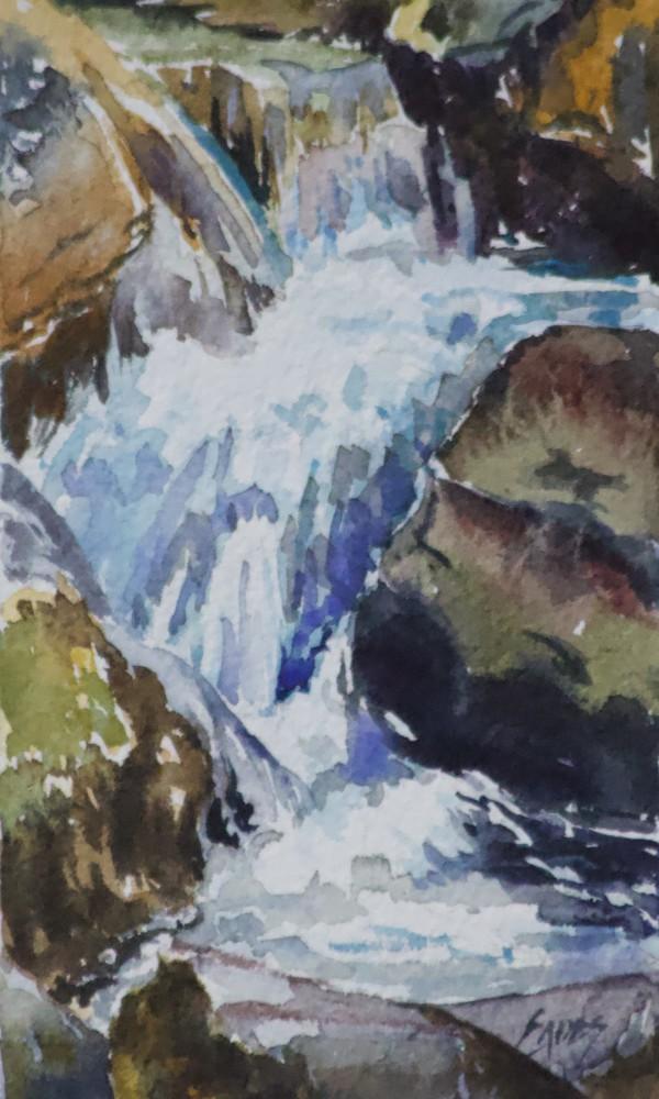 Watercolor Waterfall WC by Linda Eades Blackburn